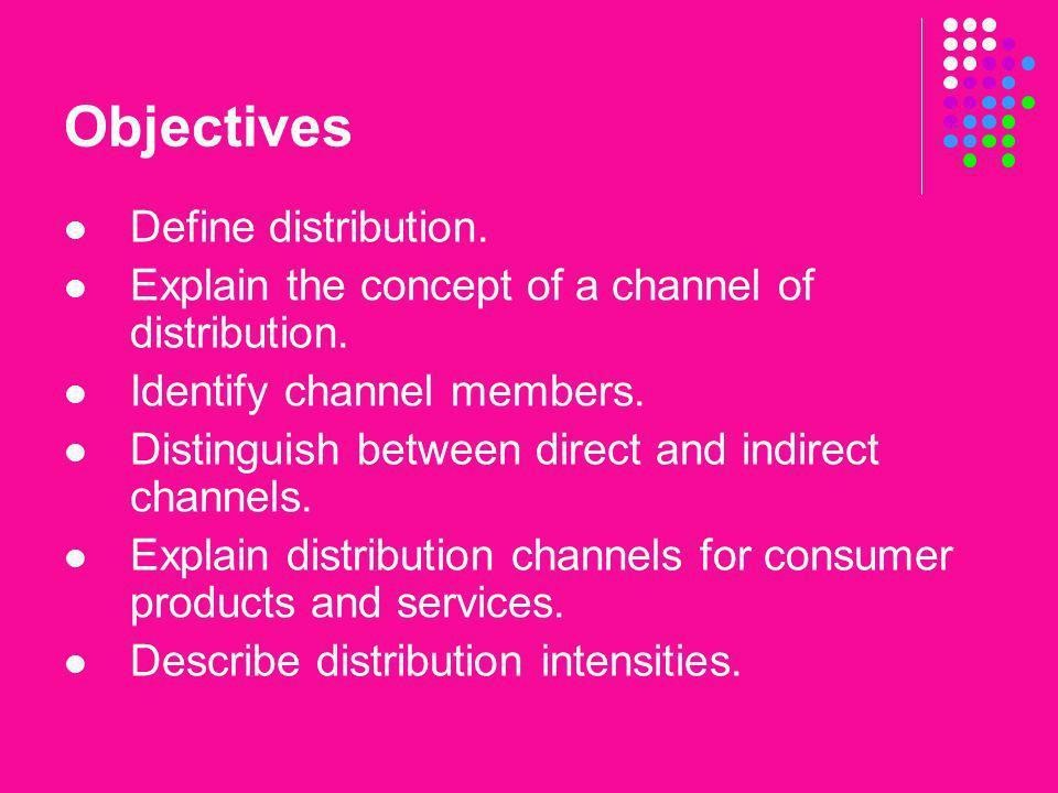 Objectives Define distribution.