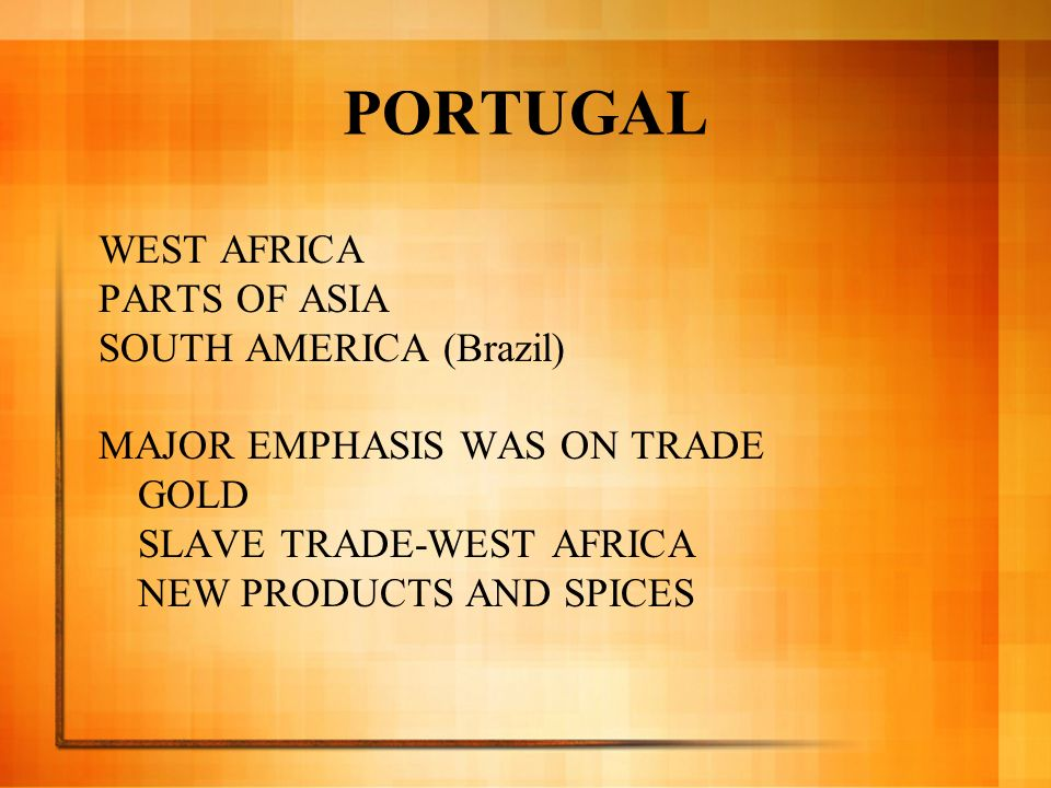 PORTUGAL WEST AFRICA PARTS OF ASIA SOUTH AMERICA (Brazil)