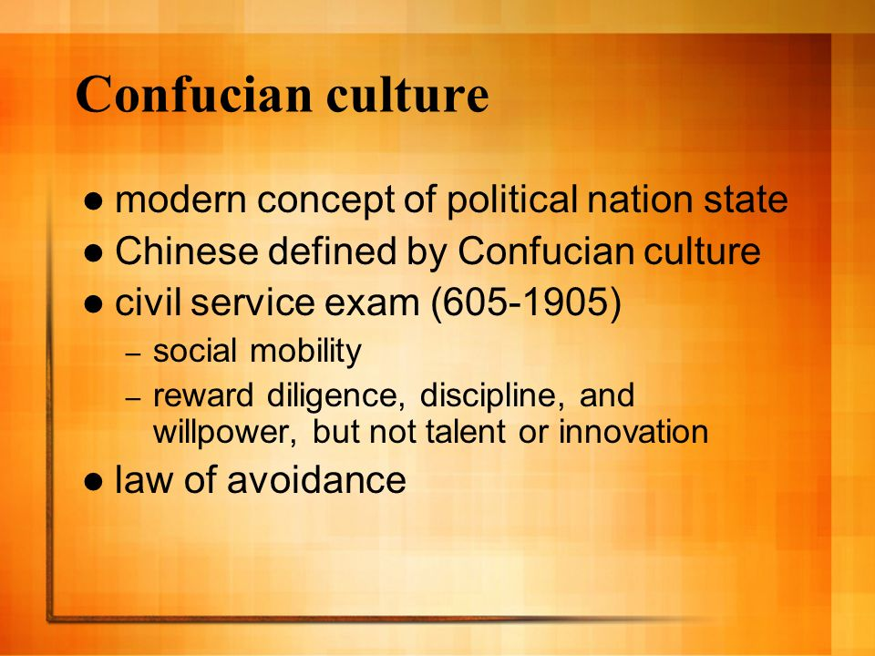 Confucian culture modern concept of political nation state