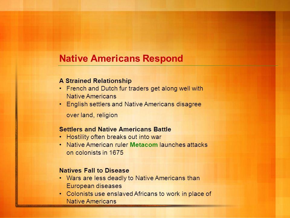 Native Americans Respond
