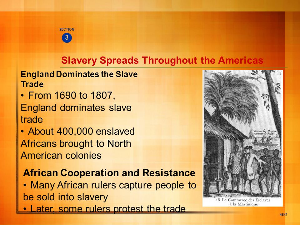 Slavery Spreads Throughout the Americas