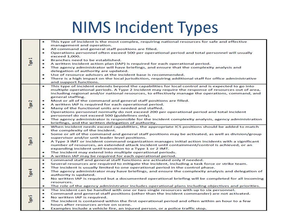 NIMS Incident Types