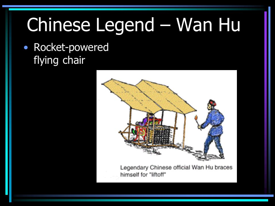 Chinese Legend – Wan Hu Rocket-powered flying chair