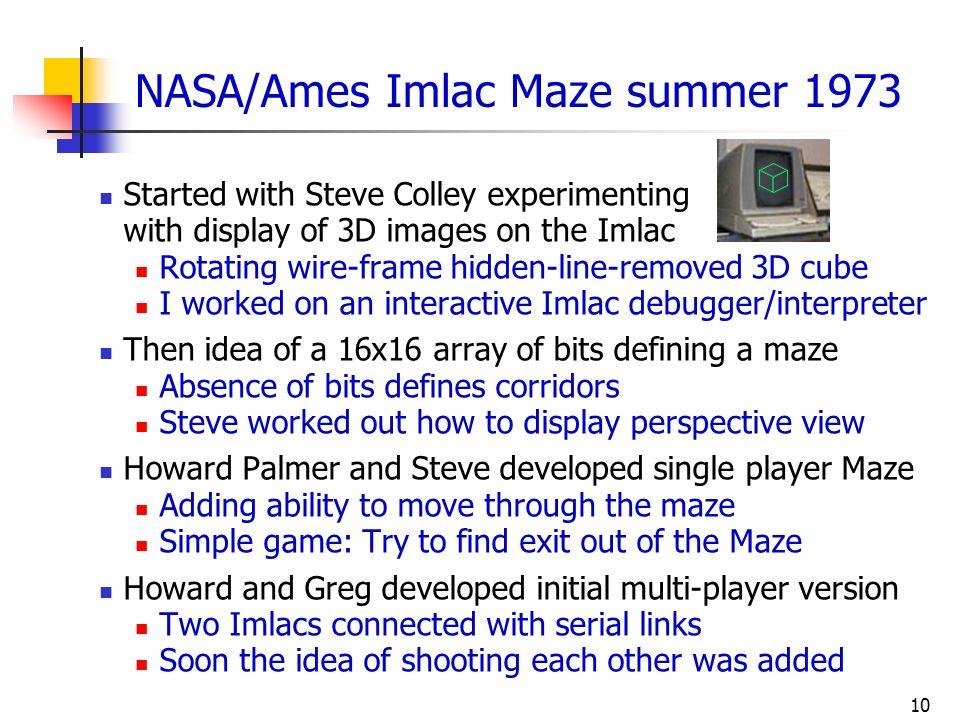 NASA/Ames Imlac Maze summer 1973