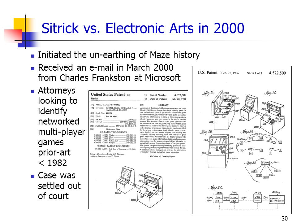 Sitrick vs. Electronic Arts in 2000