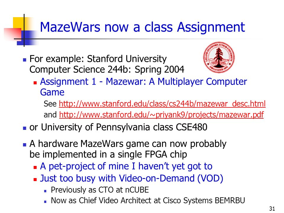 MazeWars now a class Assignment