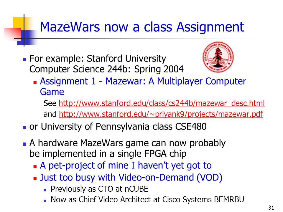MazeWars now a class Assignment