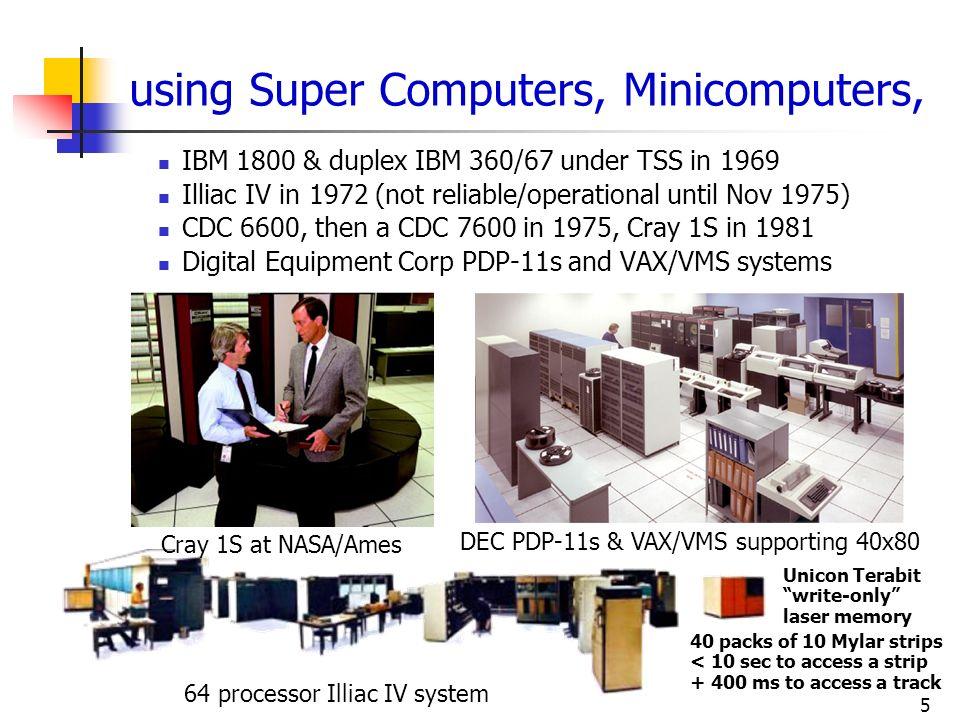 using Super Computers, Minicomputers,