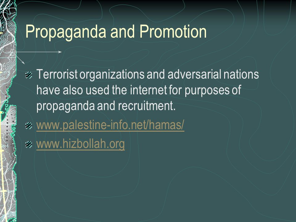 Propaganda and Promotion