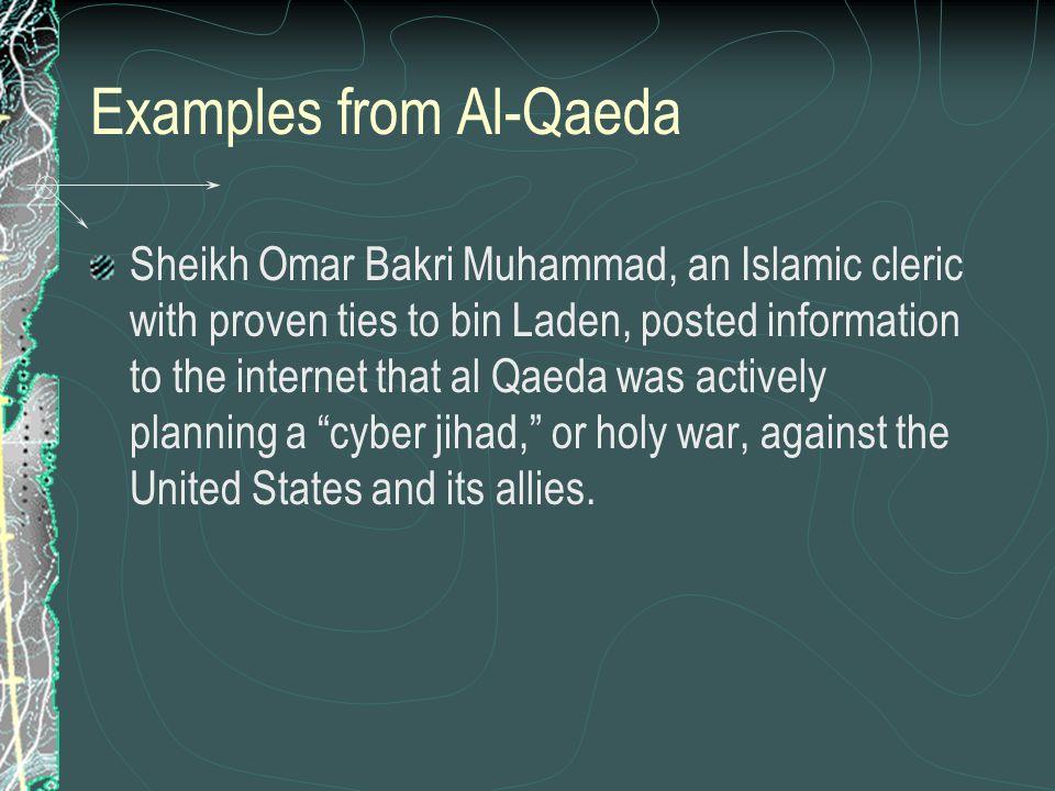 Examples from Al-Qaeda