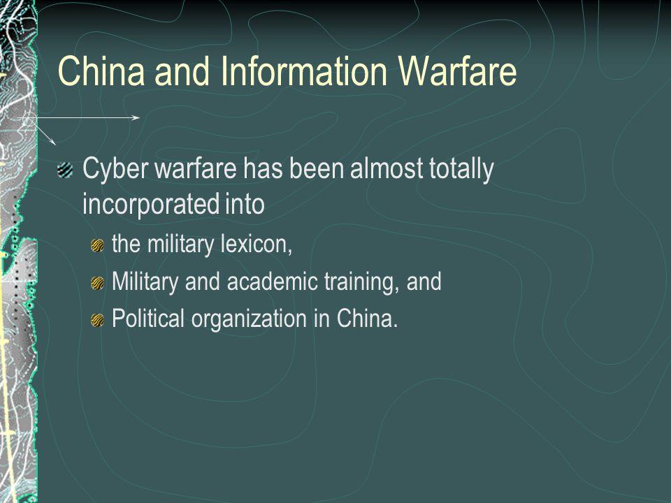 China and Information Warfare
