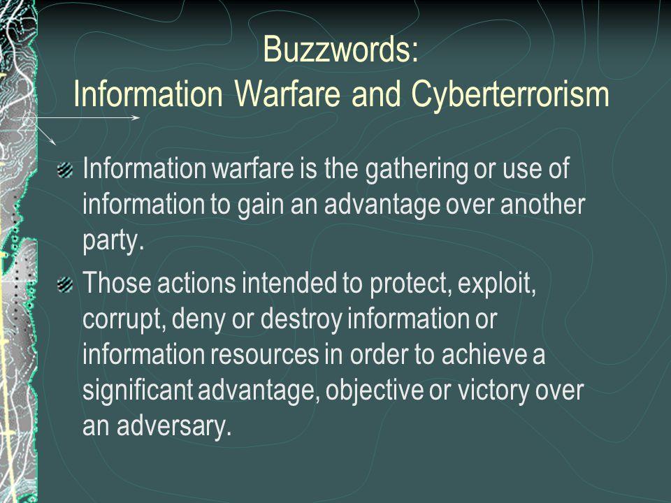 Buzzwords: Information Warfare and Cyberterrorism