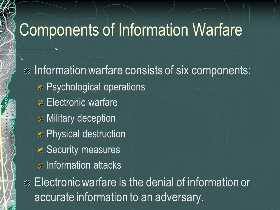Components of Information Warfare