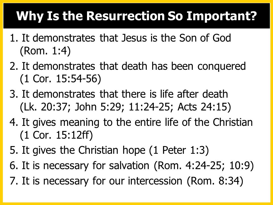 Why Is the Resurrection So Important