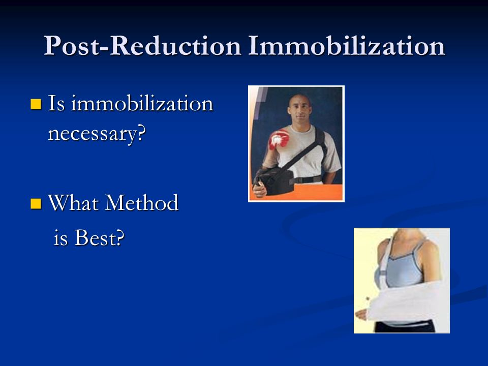 Post-Reduction Immobilization