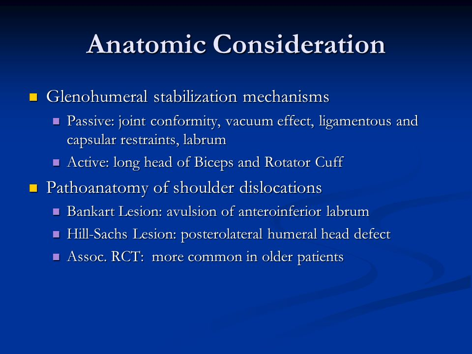 Anatomic Consideration