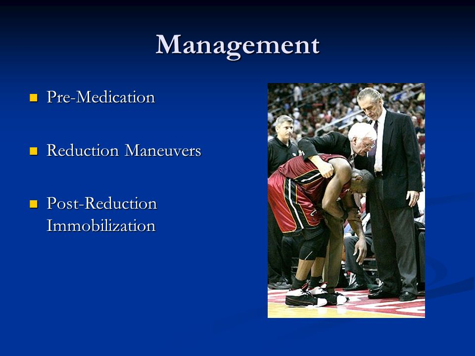 Management Pre-Medication Reduction Maneuvers