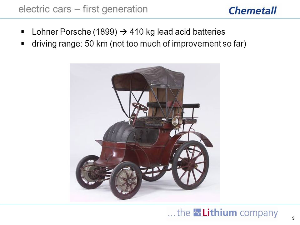electric cars – first generation