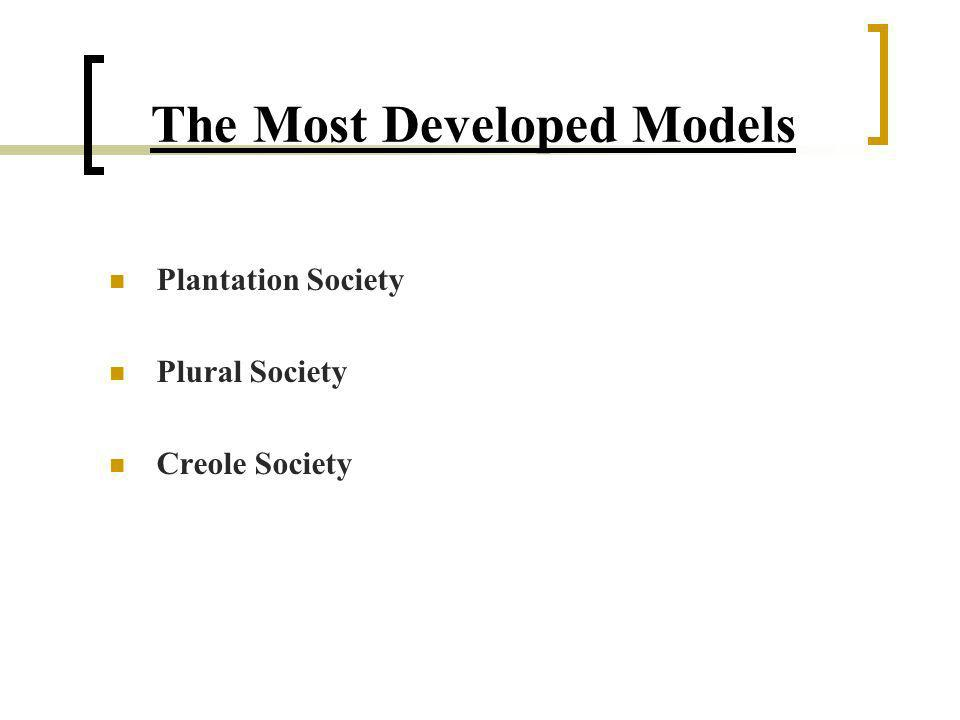 The Most Developed Models