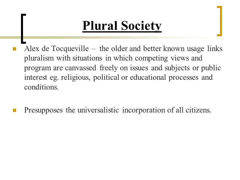 Plural Society