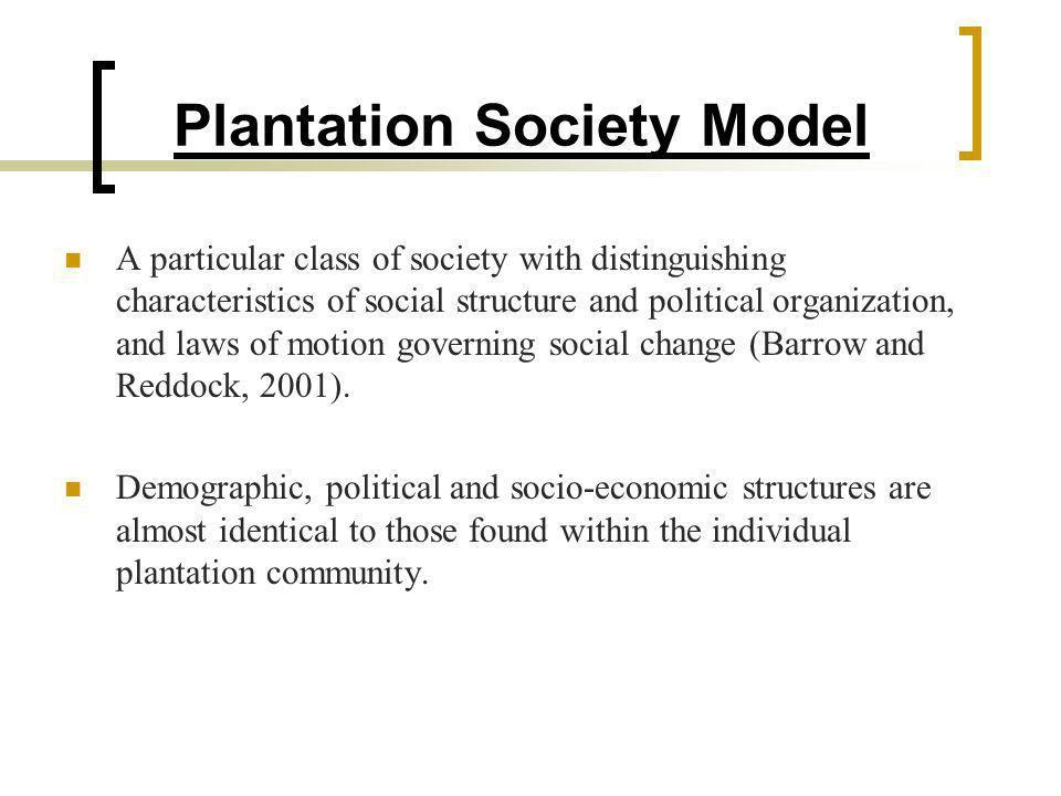 Plantation Society Model