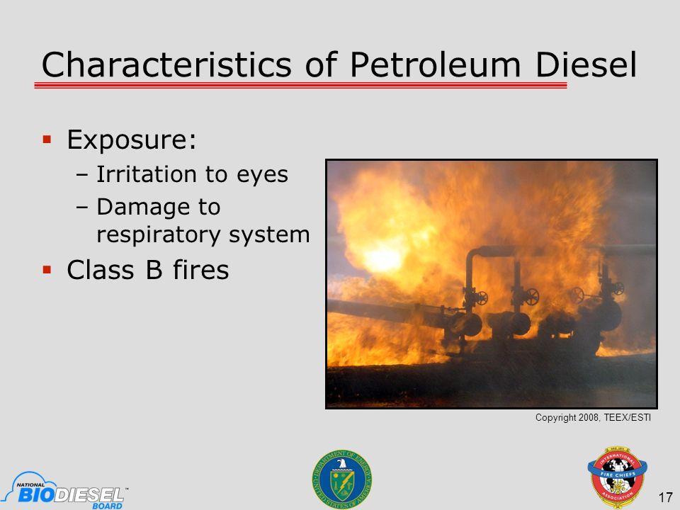 Characteristics of Petroleum Diesel