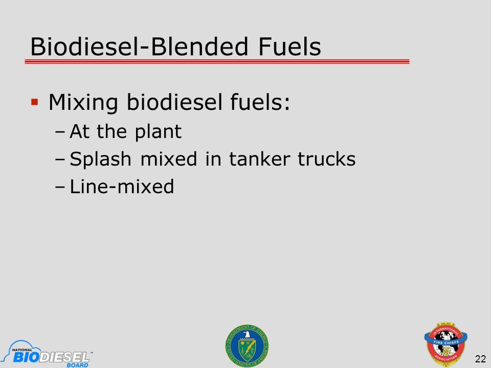 Biodiesel-Blended Fuels