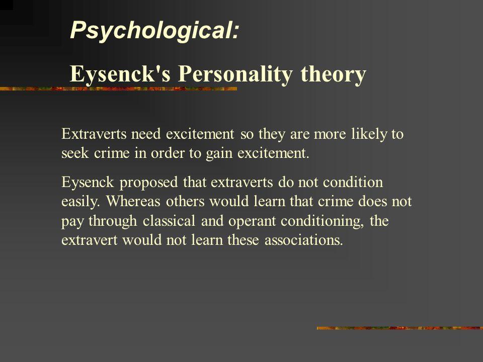 Eysenck s Personality theory