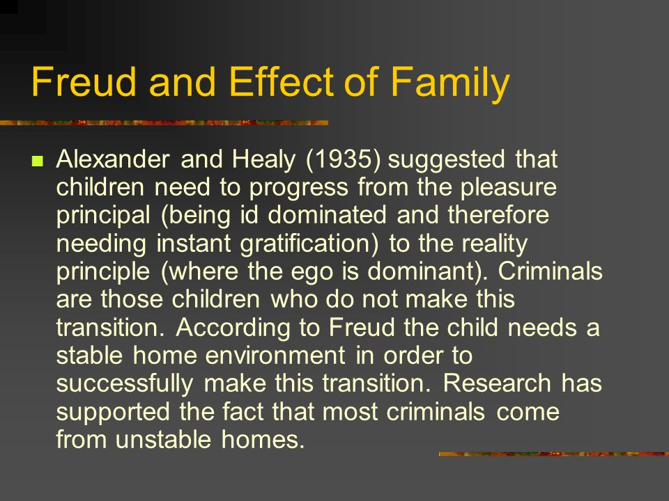 Freud and Effect of Family