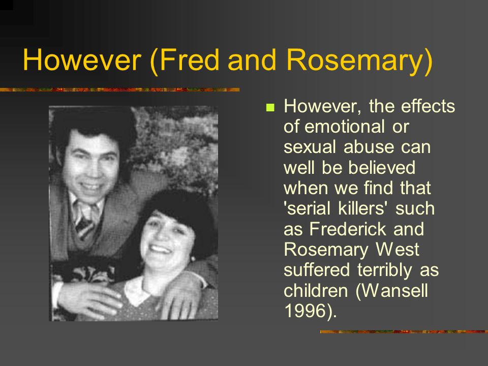 However (Fred and Rosemary)