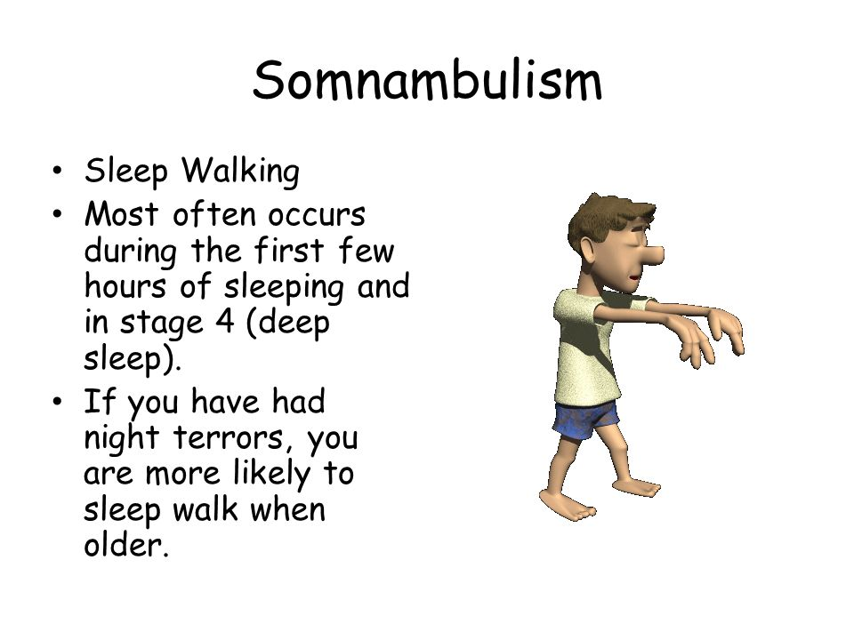 Somnambulism Sleep Walking