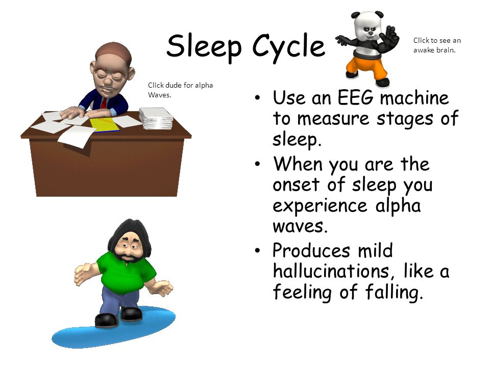 Sleep Cycle Use an EEG machine to measure stages of sleep.