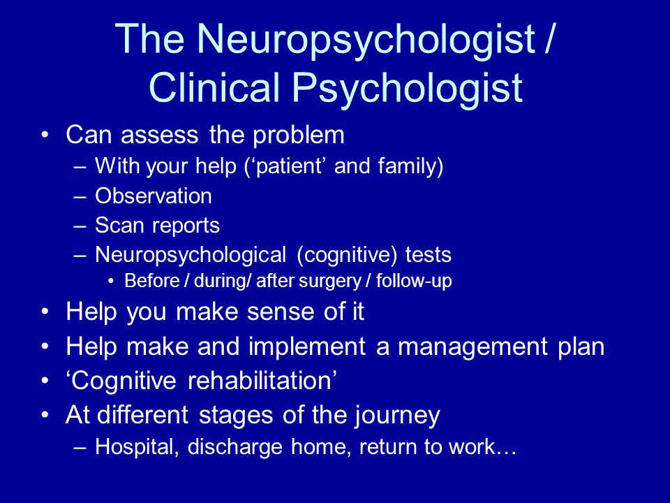 The Neuropsychologist / Clinical Psychologist