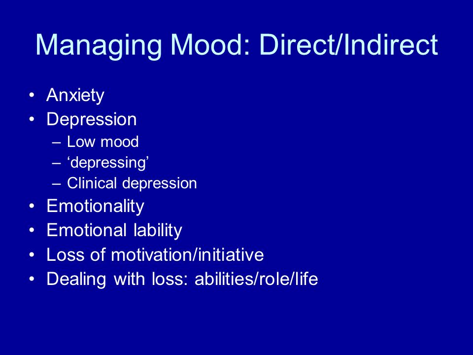 Managing Mood: Direct/Indirect