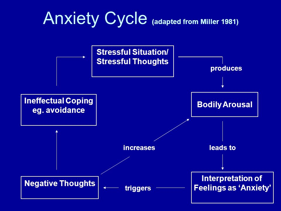 Anxiety Cycle (adapted from Miller 1981)