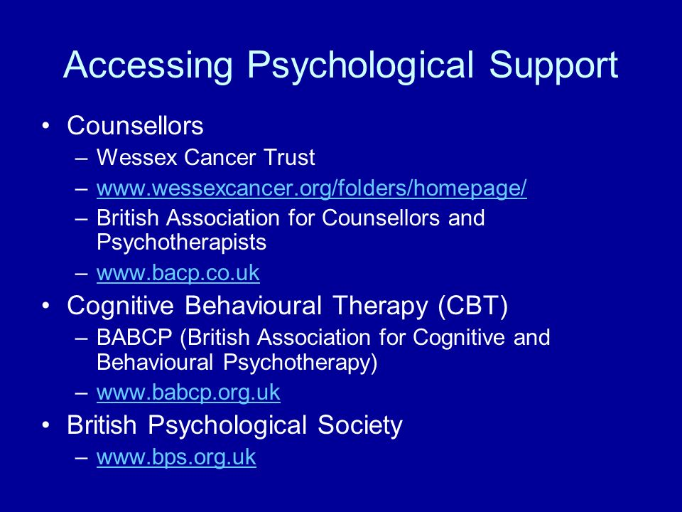 Accessing Psychological Support