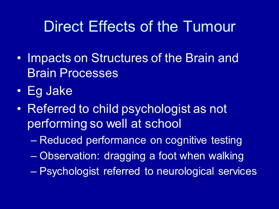 Direct Effects of the Tumour