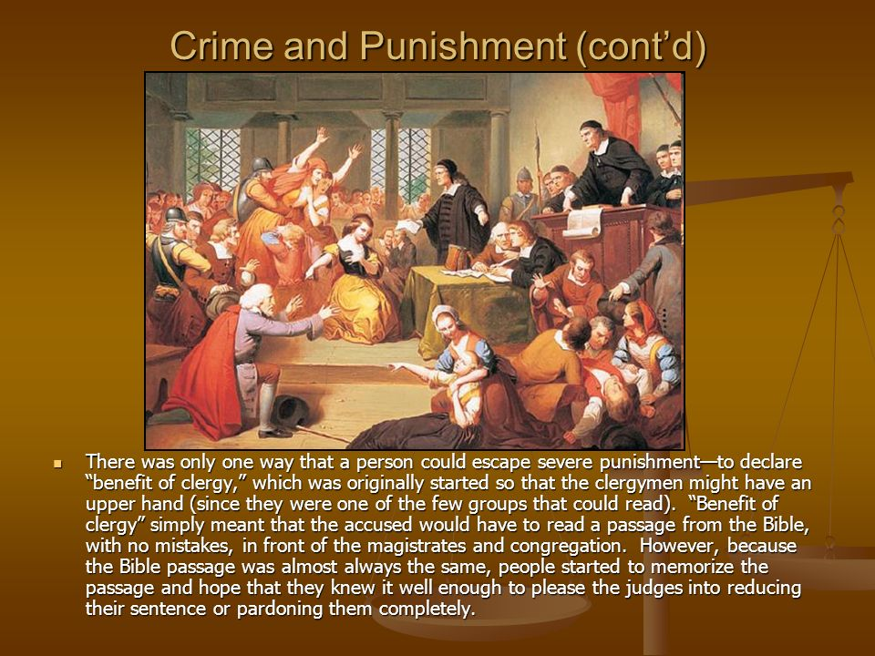 Crime and Punishment (cont'd)