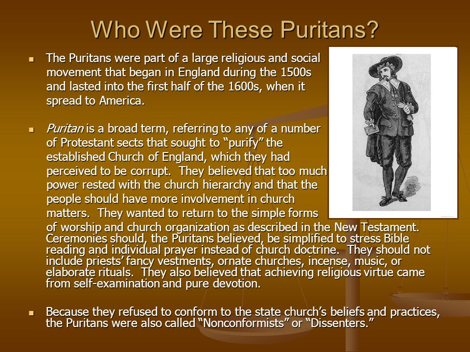 Who Were These Puritans