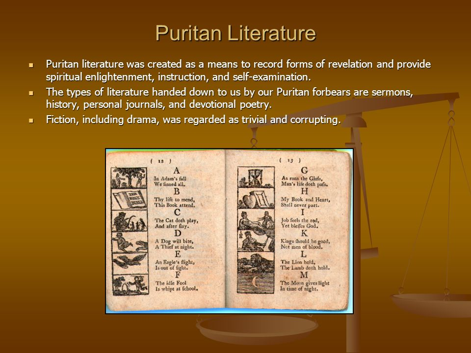 writing styles in the puritan time Get an answer for 'what are some common themes found in puritan  puritan poetry was guided by strict codes and rules as was any puritan writing  puritan style,.