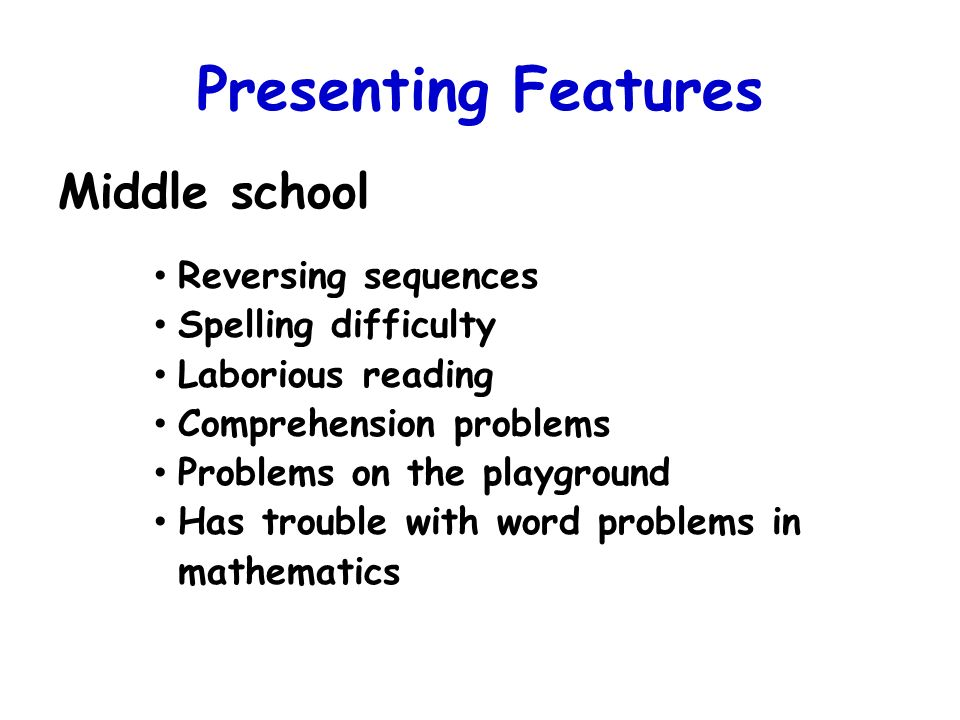 Presenting Features Middle school Reversing sequences