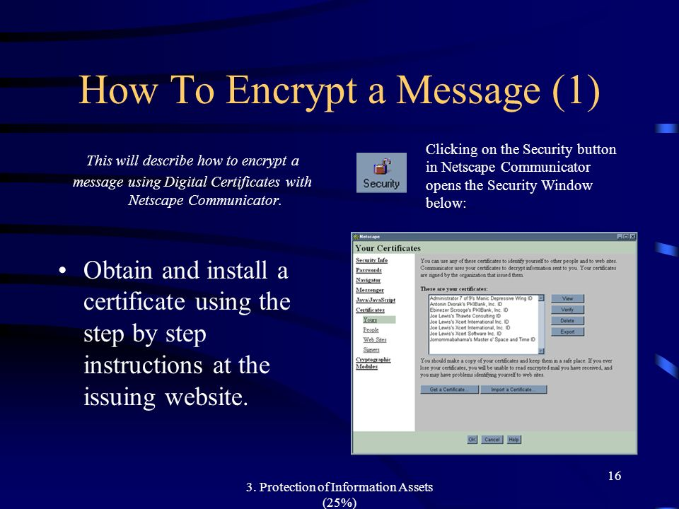 How To Encrypt a Message (1)