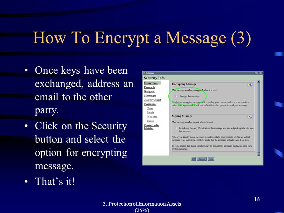 How To Encrypt a Message (3)