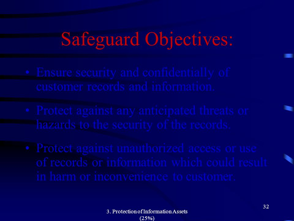 Safeguard Objectives: