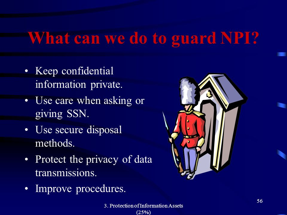 What can we do to guard NPI