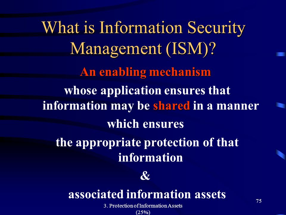 What is Information Security Management (ISM)