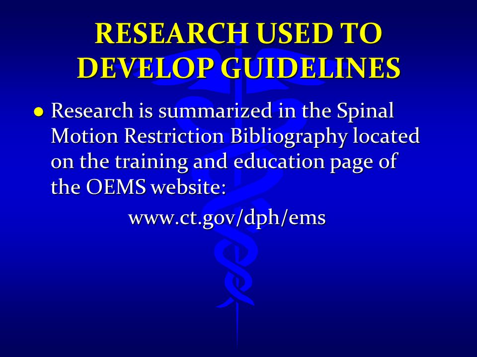 Research Used to Develop Guidelines