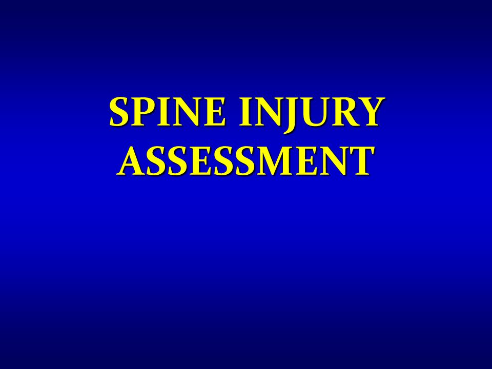 Spine Injury Assessment
