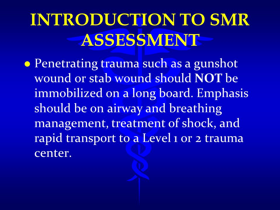 INTRODUCTION TO SMR ASSESSMENT