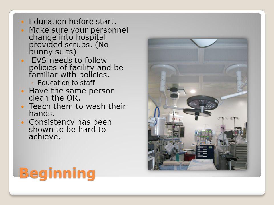Beginning Education before start.